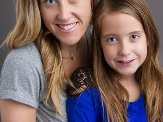 Mother and Daughters in Studio Session