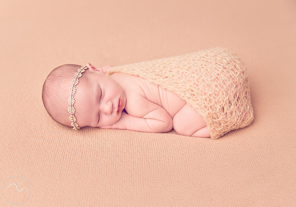 Newborn Baby girl sleeping Patricia Thom Photography