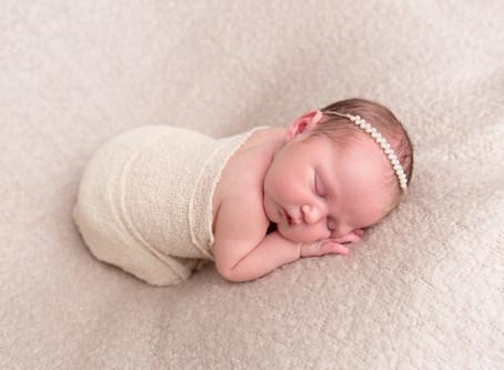 Beautiful Baby E. with her mummy's Wedding Dress