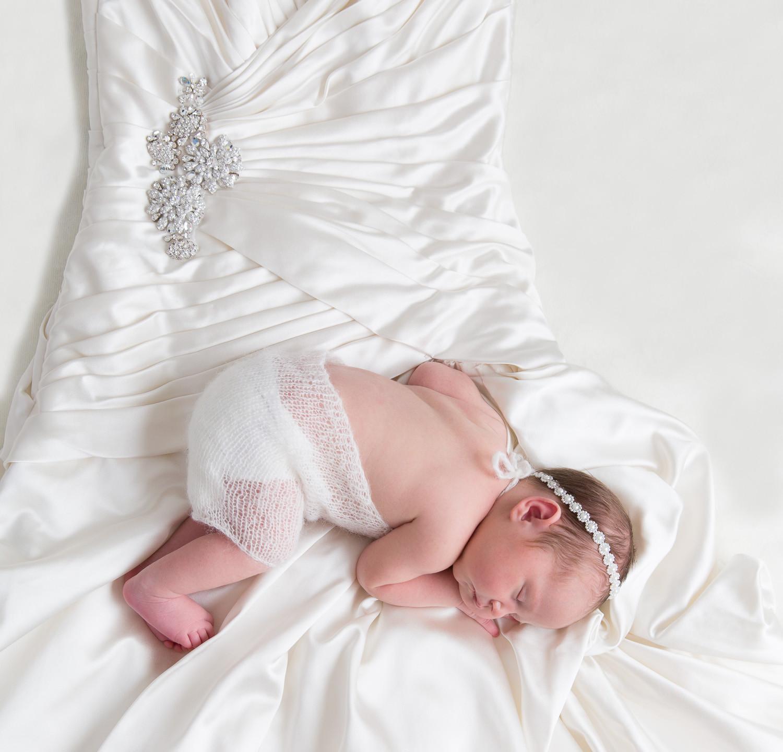 Baby in Wedding Dress