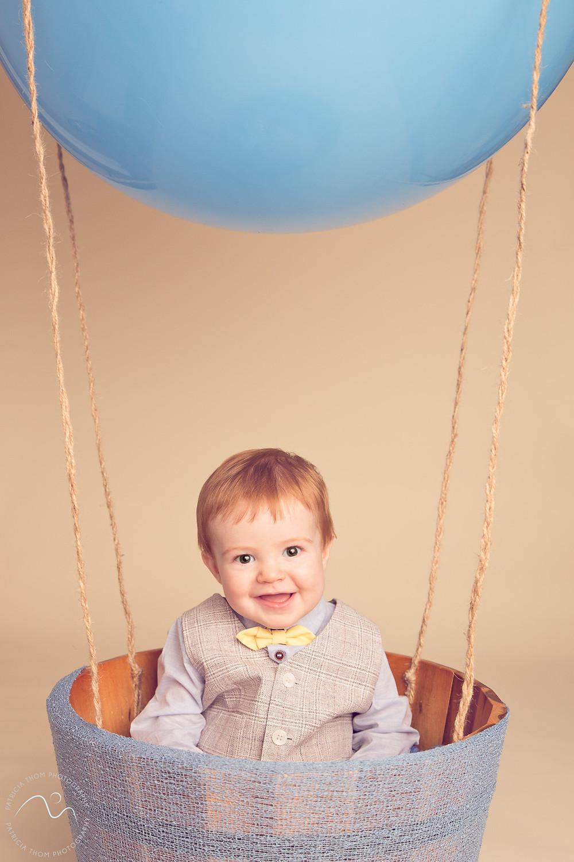 Boy on hot air balloon Photographer aberdeenshire