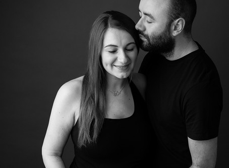 T & D at the Studio for their Maternity Session