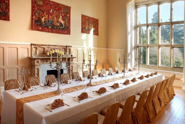 Dining room set up for special occassion