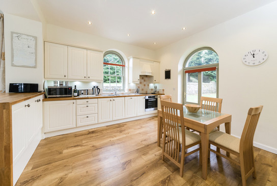 Kitchen and dining area leading directly into the garden