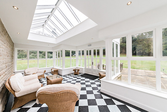 Bright and airy orangery