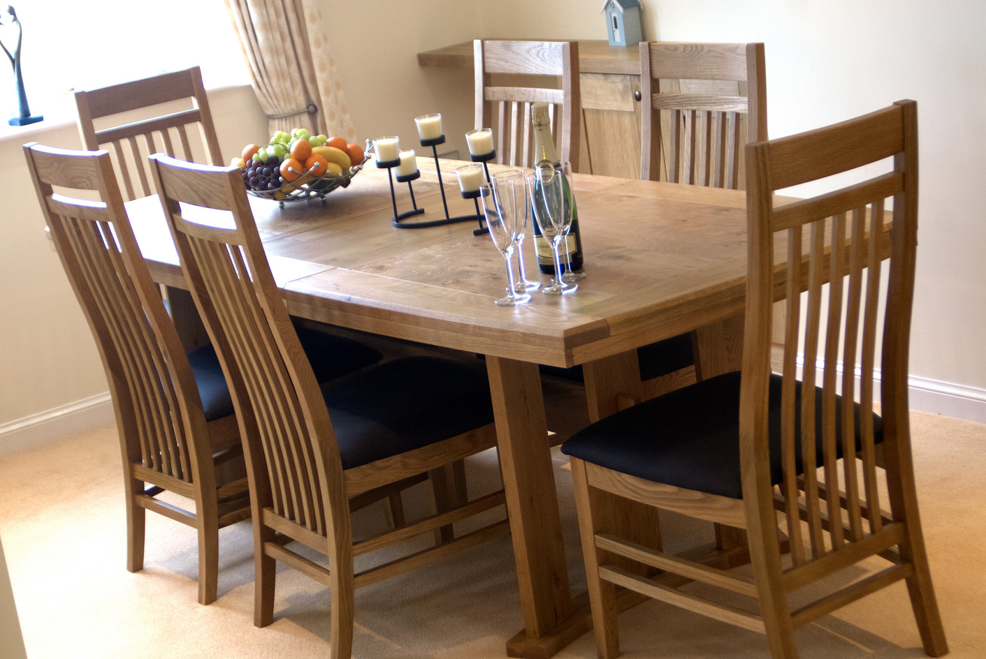 Dining table a high chair can also be provided