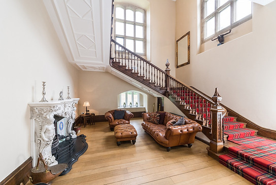 Snug area with original fireplace from Haggerston Castle