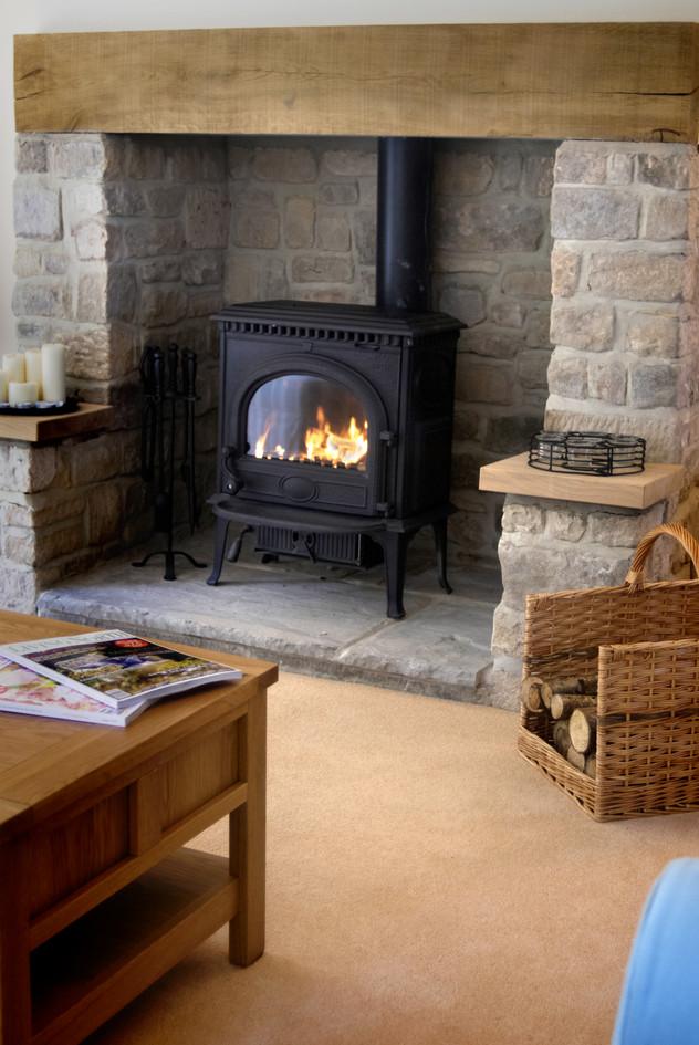 Log burner a starter pack of logs will be provided