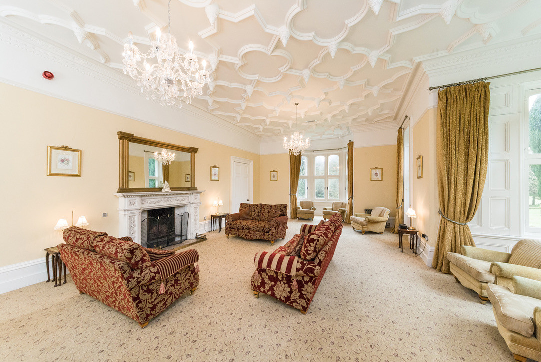 South facing lounge with open fire place