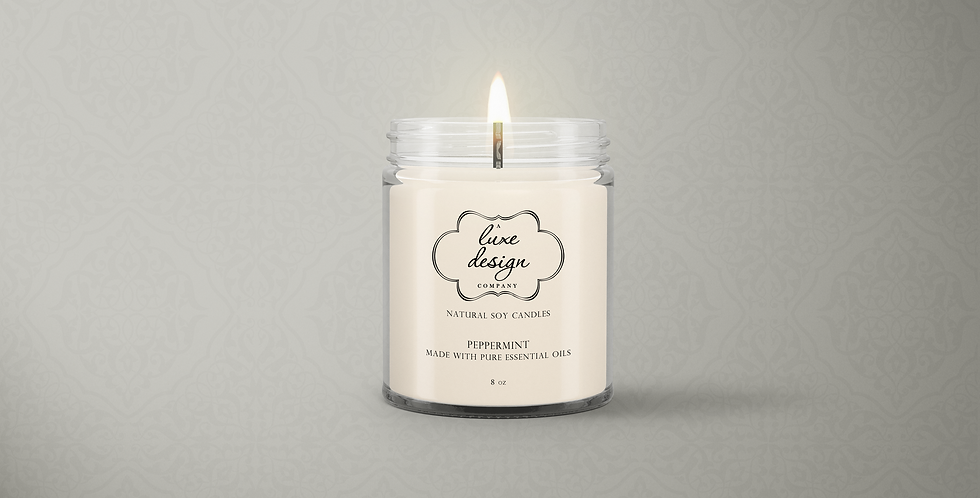 Pure Peppermint Essential Oil Candle