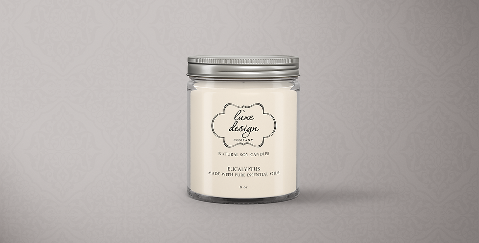 Pure Eucalyptus Essential Oil Candle