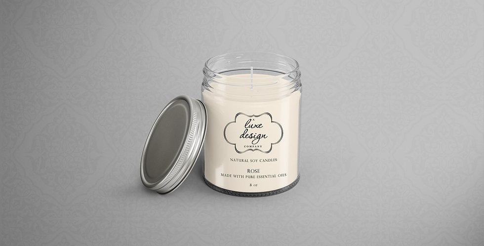 Pure Rose Essential Oil Candle