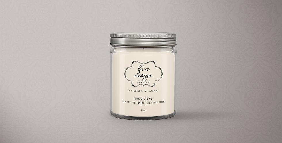 Pure Lemongrass Essential Oil Candle