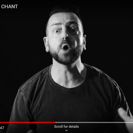 New promo video 'CHANT' getting posted this week!