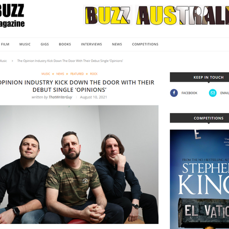 BUZZ Magazine has caught wind of OPINIONS