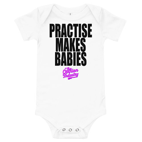 Practise Makes Babies Onesie Pink - The Opinion Industry