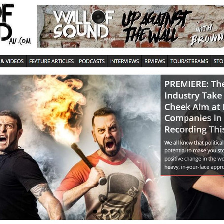 VIDEO PREMIERE for 'THEY'RE RECORDING THIS' @ Wall Of Sound AU