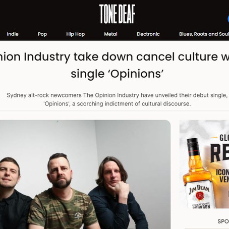 Great write-up in TONE DEAF on OPINIONS