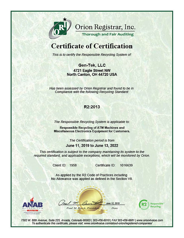 GEN-TEK Certificate-Gen-Tek, LLC-2019102