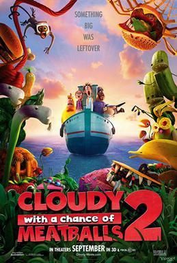 Cloudy and a chance of meatball 2 (2013)