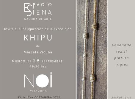 KHIPU exposición individual de Marcela Vicuña