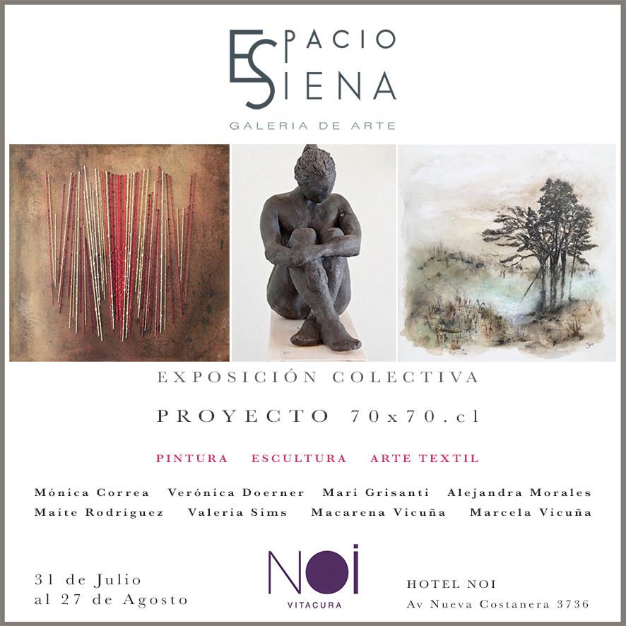 Exposición colectiva de las 8 artistas chilenas que expusieron con Espacio Siena en Málaga, España