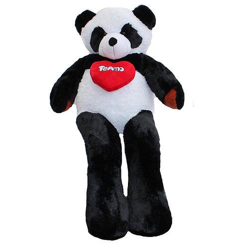 Peluche Gigante oso panda 1,7 metros con corazón