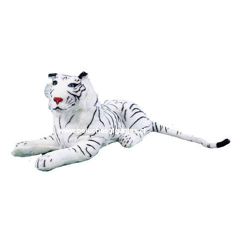 Peluche grande tigre blanco 1,0 metro
