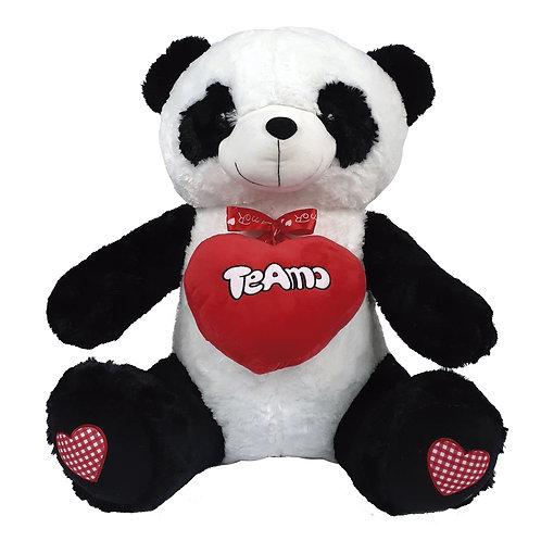Oso Panda Corazón - 80 cms. CON CORAZONES ROSADOS