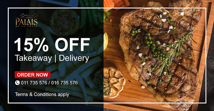 15% OFF Takeaway & Delivery Thumbnail We