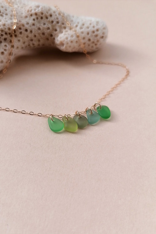 Brighton Collection - Green Nugget Charm Necklace