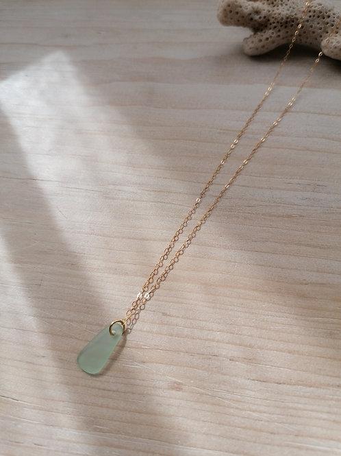 Aquitaine Collection - Simple Celadon Necklace