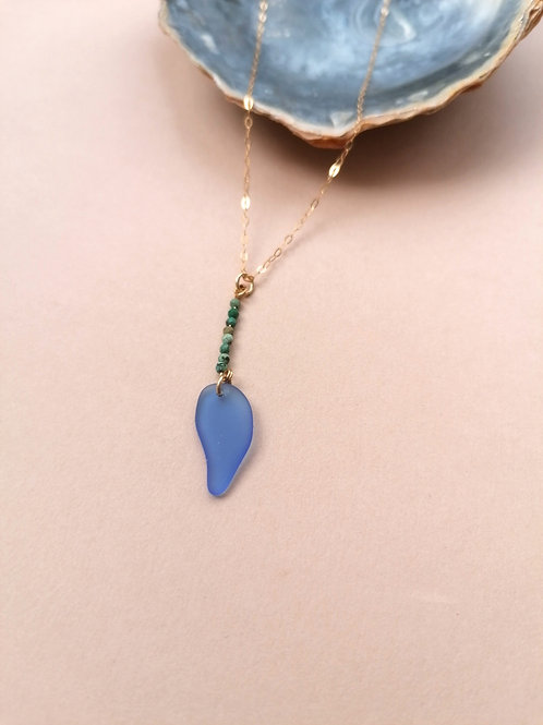 Alonnisos Collection - Rare Shaped Cobalt with Turquoise Beads