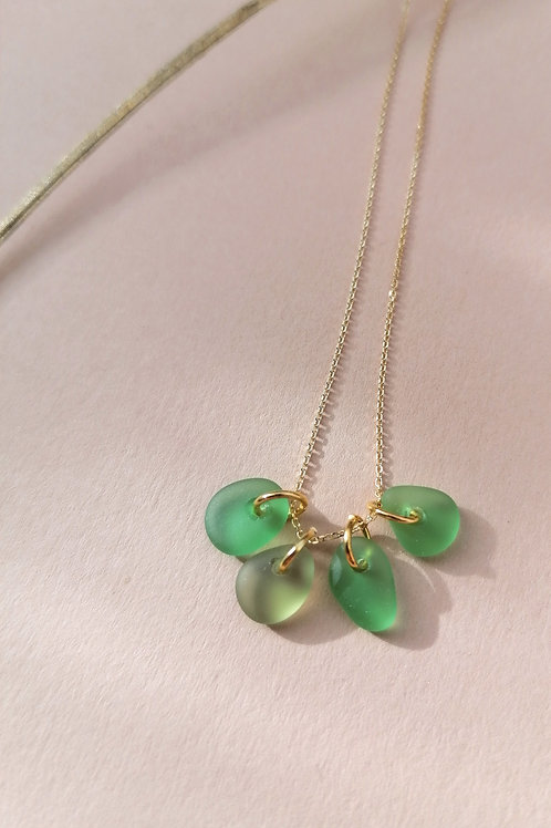 Brighton Collection -Vivid Green Cluster Necklace