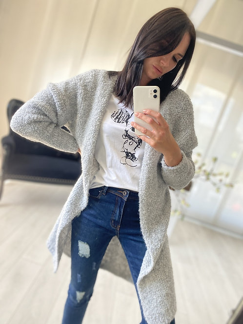 Sweter Kardigan Ramoni Grey