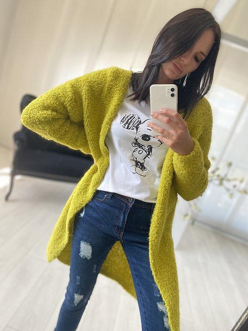 Sweter Kardigan Ramoni Yellow