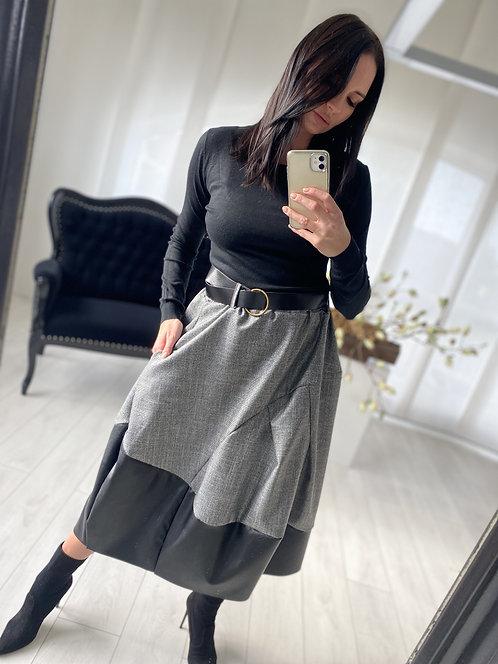 Spódnica Asmina Grey and Black