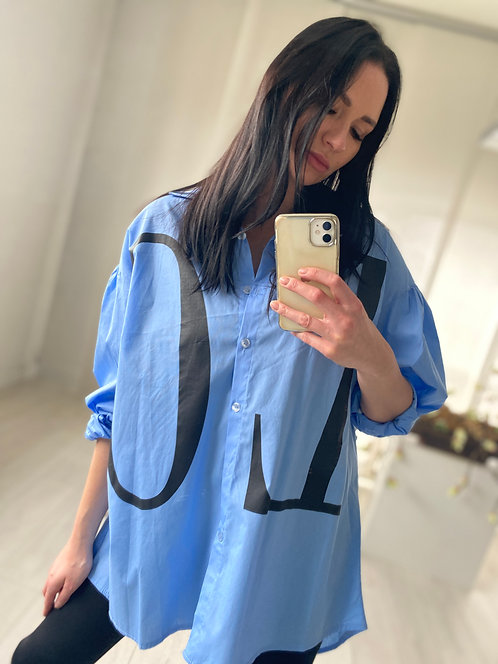 Koszula Love Holiday Blue