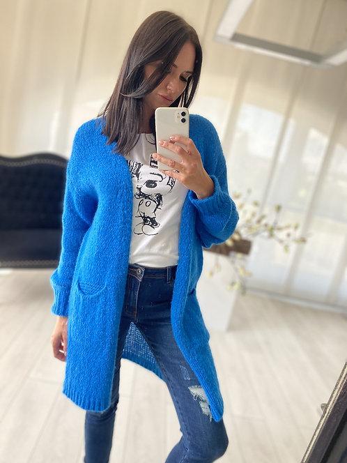 Sweter Kardigan Oliveta Blue
