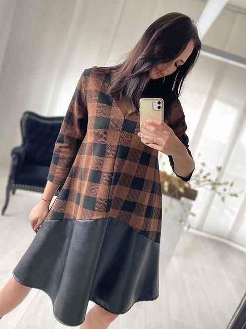 Sukienka Moreni Brown Check