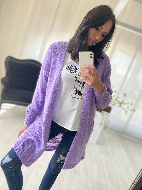 Sweter Kardigan Oliveta Violet