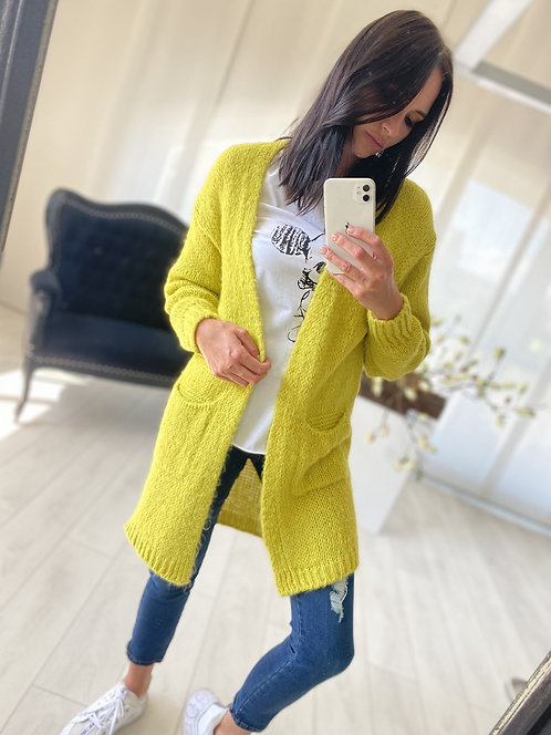 Sweter Kardigan Oliveta Yellow