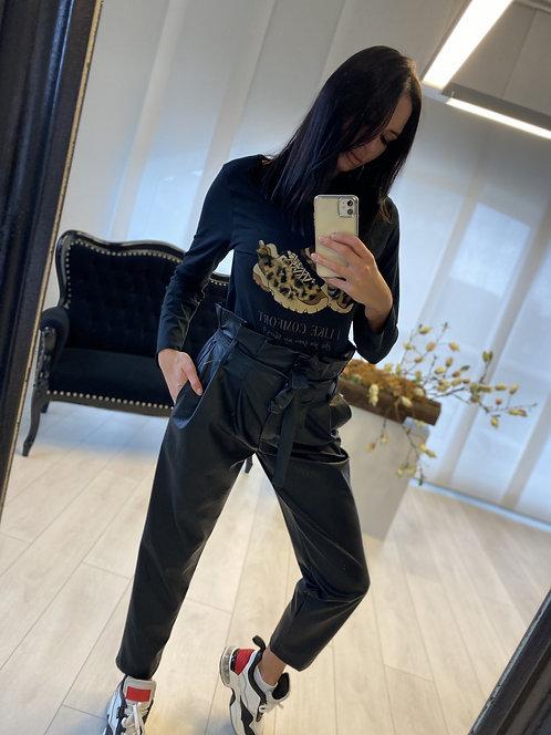 Spodnie Imogen Faux Leather Black