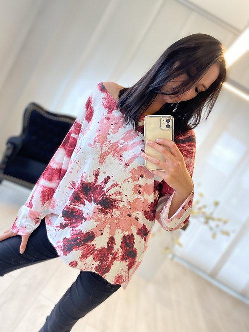 Bluzka Marika Tie Dye Pink