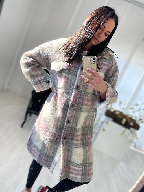Płaszcz Calea Pink and Grey Check