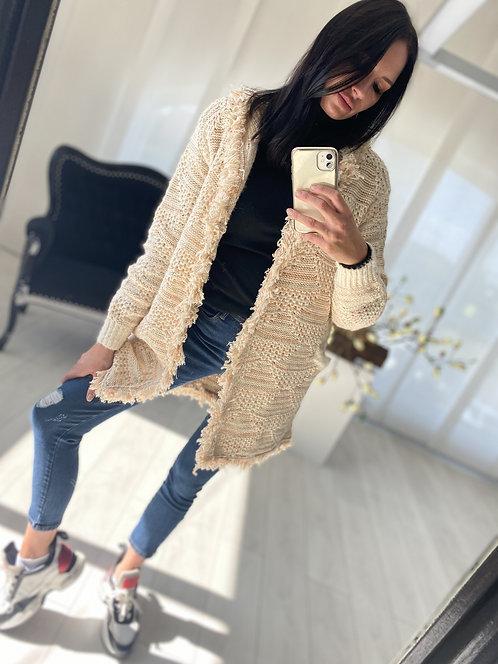Sweter Kardigan Fabito Beige