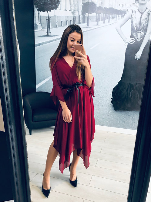 Sukienka Lisabell Bordo