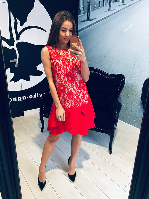 Sukienka Tulia Red and Beige PREMIUM