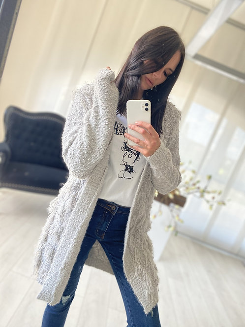 Sweter Kardigan Koreli Grey