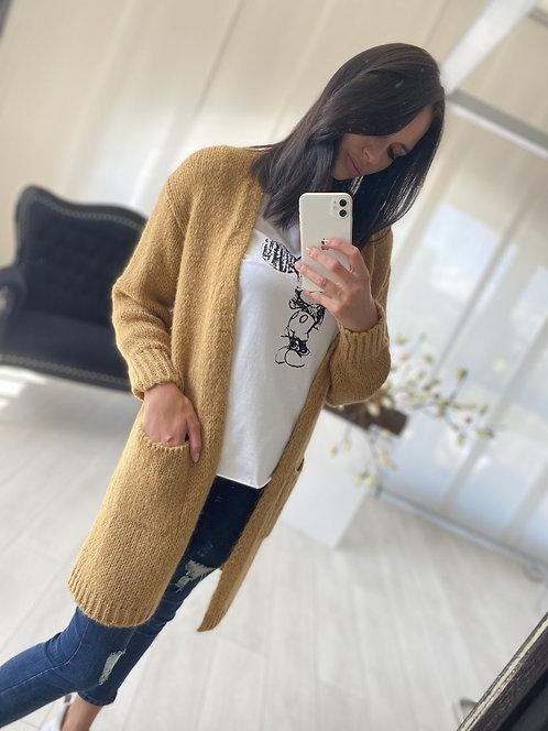 Sweter Kardigan Oliveta Brown